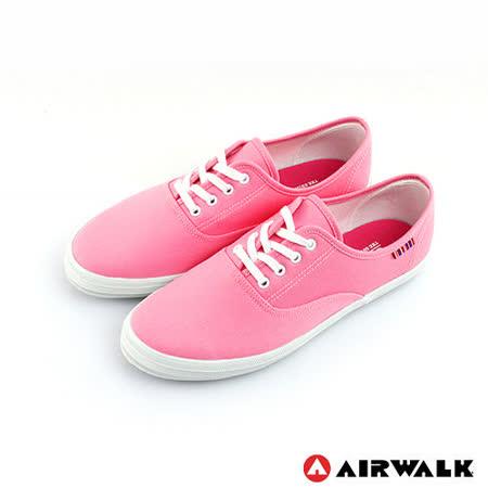 AIRWALK(女) - 美式帆布鞋 SWEET繽紛輕柔感純棉帆布鞋 - 甜姐粉