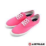 AIRWALK(女) - 美式帆布鞋 SWEET繽紛輕柔感純棉帆布鞋 - 蜜桃粉