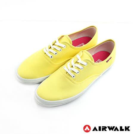 AIRWALK(女) - 美式帆布鞋 SWEET繽紛輕柔感純棉帆布鞋 - 蛋糕黃