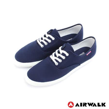 AIRWALK(女) - 美式帆布鞋 SWEET繽紛輕柔感純棉帆布鞋 - 海邊藍