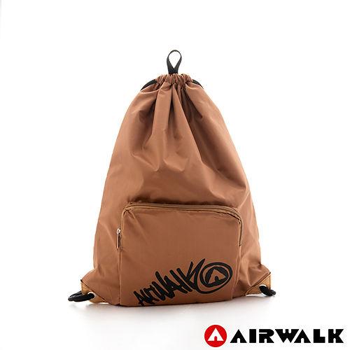 AIRWALK ~ 輕便束口袋 無拘無束 自由出走輕便束口後背包 ~ 秋桐咖