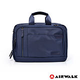 AIRWALK - 公事包 BUSYDAY 斜紋防潑水A4夾層公事包(中) - 深藍