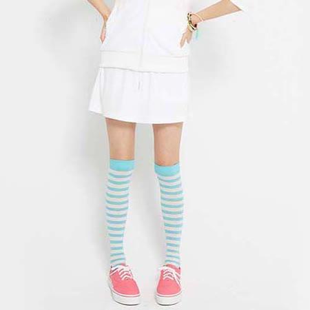 TOP GIRL 輕透感抽皺剪接褲裙-白