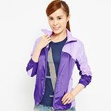 FIVE UP-繽紛配色吸排抗UV風衣薄外套-深紫