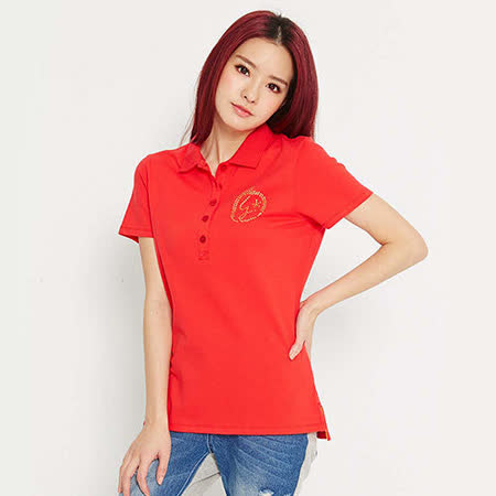【TOP GIRL】燙鑽設計短袖POLO衫-女-(共五色)