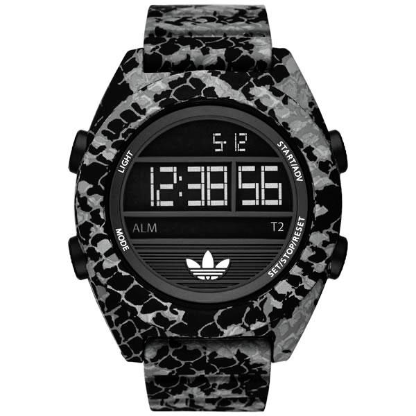 adidas  鷹眼蟒蛇三葉休閒腕錶-黑