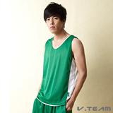【V.TEAM】善變潮流雙面穿吸濕排汗籃球背心 (夏中綠)