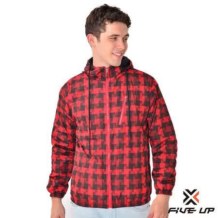 【FIVE UP】激風飆色中厚雙面穿外套-男-火熱紅
