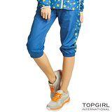 【TOP GIRL】星星魅力抗UV薄風衣七分褲-女(天空藍)