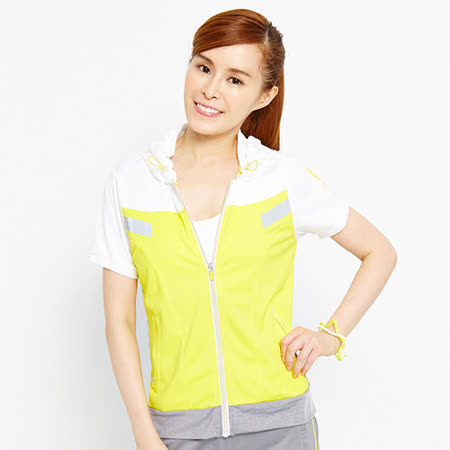 TOP GIRL 青春連帽短袖外套-女-亮黃