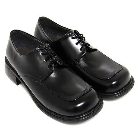 【Pretty】綁帶方頭低跟學生皮鞋(女款)