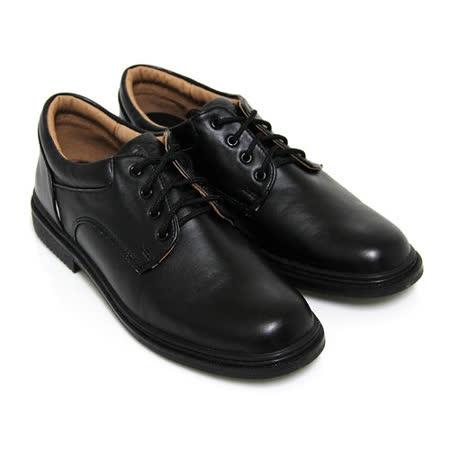 【Pretty】八孔綁帶式圓頭標準學生鞋皮鞋(男款)