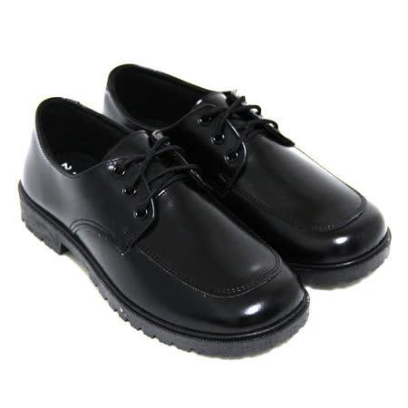 【Pretty】學院風六孔綁帶式圓頭低跟標準學生鞋皮鞋(女款)