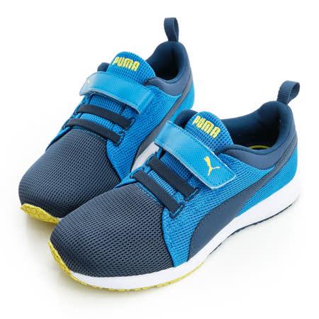 PUMA (童)簡約有型舒適慢跑鞋-藍-35890813