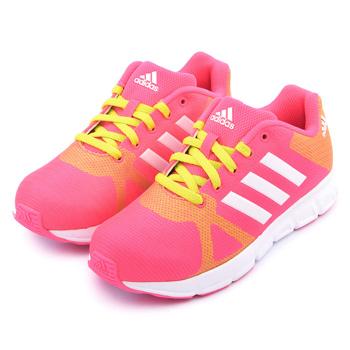 Adidas 大童 輕量透氣運動跑鞋B44127-粉橘