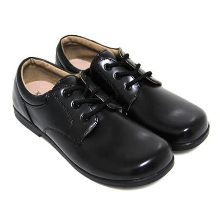 【Pretty】學院風六孔綁帶式寬圓頭低跟標準學生鞋皮鞋(女款)