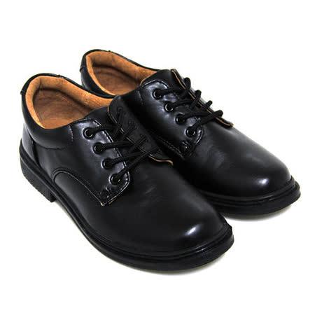 【Pretty】八孔綁帶式圓頭標準學生鞋皮鞋(女款)