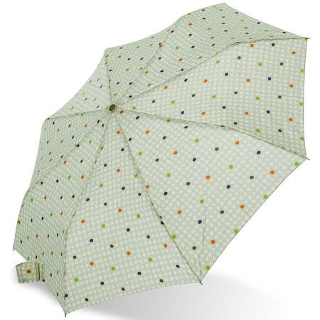 【rainstory】樂活點點(粉綠)抗UV隨身自動傘