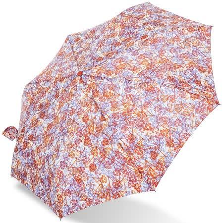 【rainstory】浪漫花漾(橘)抗UV隨身自動傘