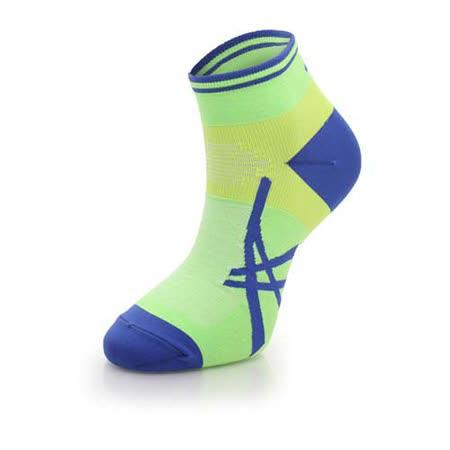 (男) ASICS 日本製保護腳踝襪-慢跑 單車 登山 襪子 亞瑟士 亮綠藍