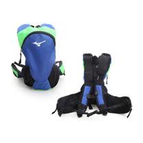 MIZUNO 運動後背包-登山 旅行 單車 自行車 雙肩包 美津濃 藍綠黑 F