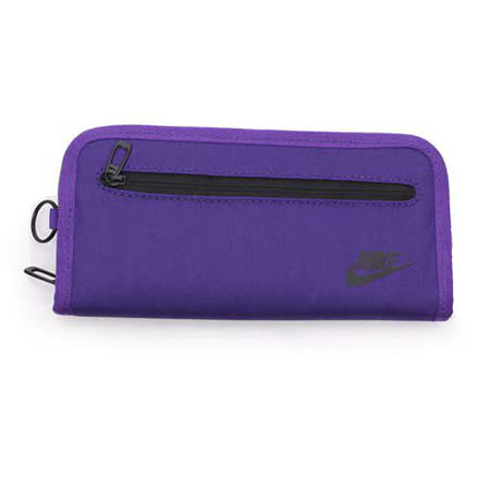 NIKE 手拿包-手機包 手提包 長夾 紫黑 F