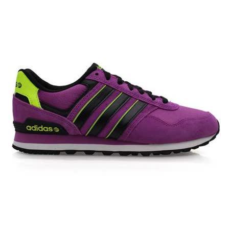 (女) ADIDAS 10K 休閒運動鞋 - 走路鞋 愛迪達 紫螢光綠(品特)