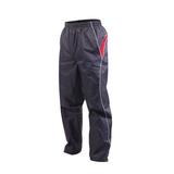 (男) KAPPA 防風長褲-運動長褲 雙層風褲 防潑水 深灰紅(品特)