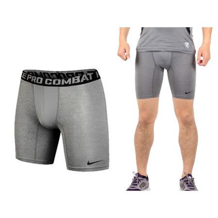 (男) NIKE PRO COMBAT 緊身短褲- 緊身褲 慢跑 路跑 健身 灰黑(品特)