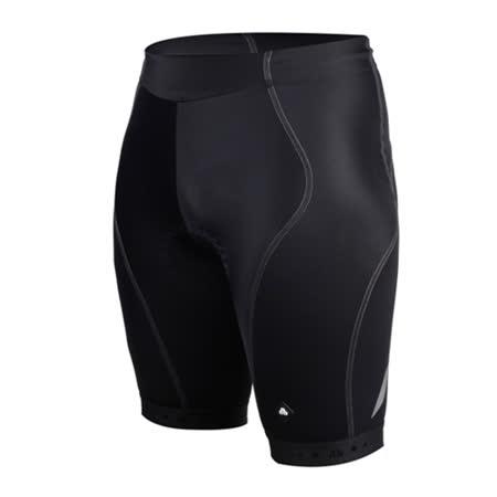 (男) SOGK 鐵人三項專用短褲-慢跑 路跑 單車 自行車 三鐵褲 反光 透氣  黑(品特)