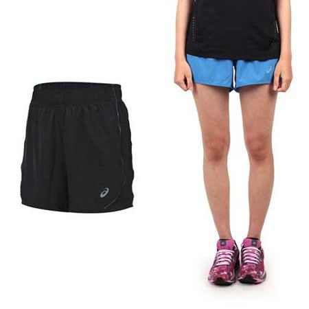 (女) ASICS LITE SHOW 運動短褲-慢跑 路跑 平織 亞瑟士 寶藍銀