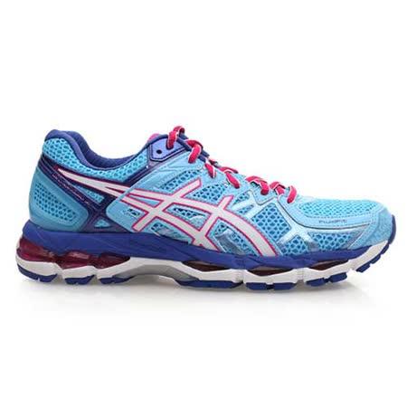 (女) ASICS GEL-KAYANO 21 慢跑鞋 - 路跑 亞瑟士 水藍桃紅