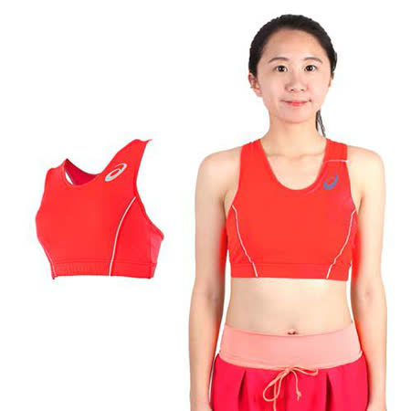 (女) ASICS 運動內衣 -背心 亞瑟士 慢跑 路跑 有氧 韻律 瑜珈 螢光粉