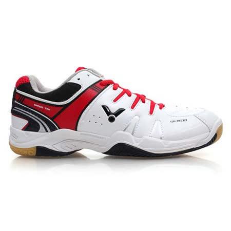 (男) VICTOR 羽球鞋 - 排球鞋 羽毛球 黑紅白