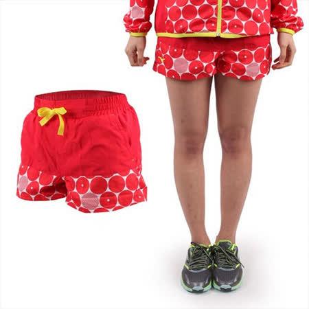 (女) MIZUNO 運動短褲- 平織 慢跑 路跑 美津濃 紅白黃