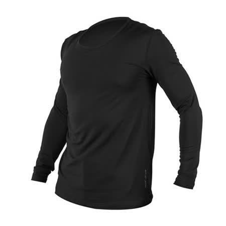 (男) WILDLAND 荒野 遠紅外線圓領保暖衣-長袖T恤 深灰