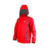 (男) KAPPA 防風外套-連帽外套 風衣外套 防風 防潑水 雙層 紅白