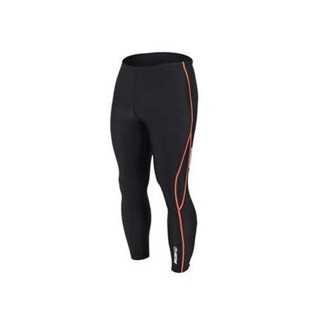 (男女) INSTAR 起點 緊身長褲-台灣製 慢跑緊身褲 路跑 籃球內搭褲  黑橘