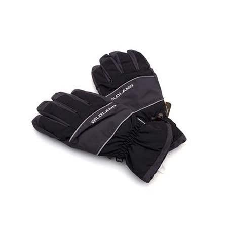 (男) WILDLAND PRIMALOFT 防水手套-摩托車 單車 保暖手套  黑