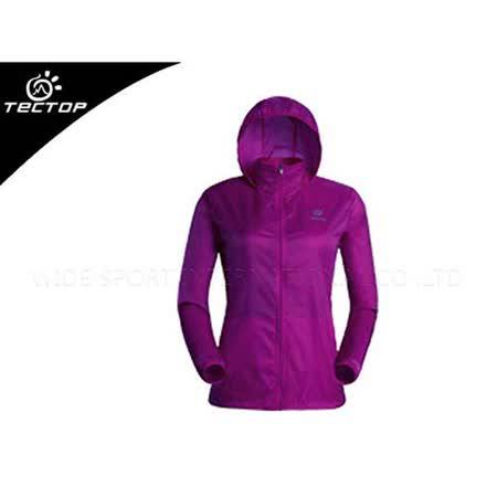 (女) TECTOP 風衣外套- 慢跑 單車 防曬 紫