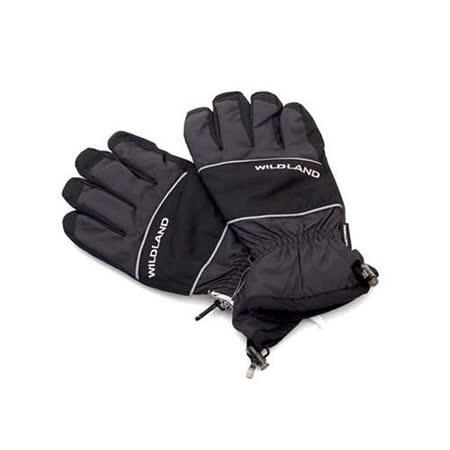 (男) WILDLAND PRIMALOFT 防水手套-摩托車 單車 保暖手套  深灰