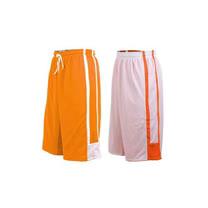 (男女) INSTAR 雙面穿籃球褲-運動短褲 台灣製 橘白