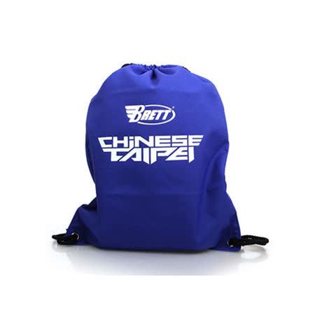 BRETT 束口袋-鞋袋 後背包 中華台北 CHINESE TAIPEI 藍 F