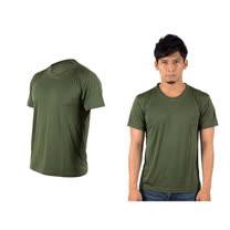 (男女) HODARLA 激膚無感衣 涼感短T恤-0秒吸排抗UV輕量吸濕排汗 軍綠