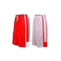 (男女) INSTAR 雙面穿籃球褲-運動短褲 台灣製 紅白