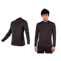 (男) WILDLAND 遠紅外線彈性保暖長袖T恤衣-刷毛 內衣  深灰