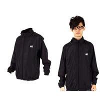 (男) MJ3 平織單層風衣-慢跑 防風外套 運動外套  黑