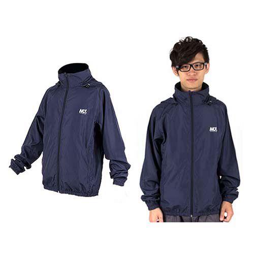(男) MJ3 平織單層風衣-慢跑 防風外套 運動外套  丈青