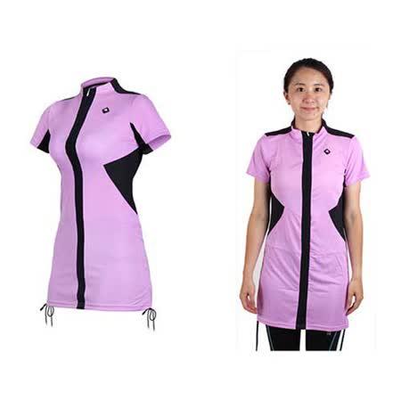 (女) SOGK 伊奧文連身裙-短袖車衣 單車 自行車 淺紫