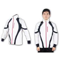 (男) ASICS 運動外套-休閒外套 防風外套 亞瑟士  白丈青紅